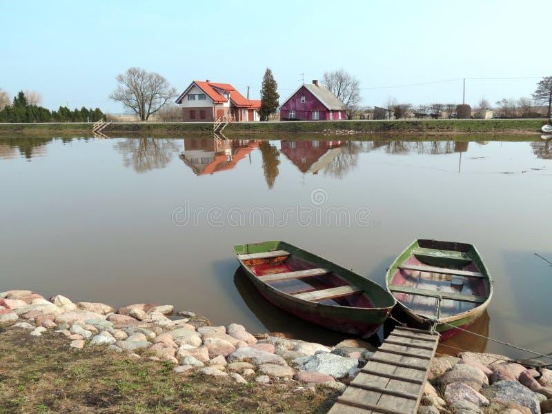 Villaggio Minge, Lituania fotografia stock libera da diritti