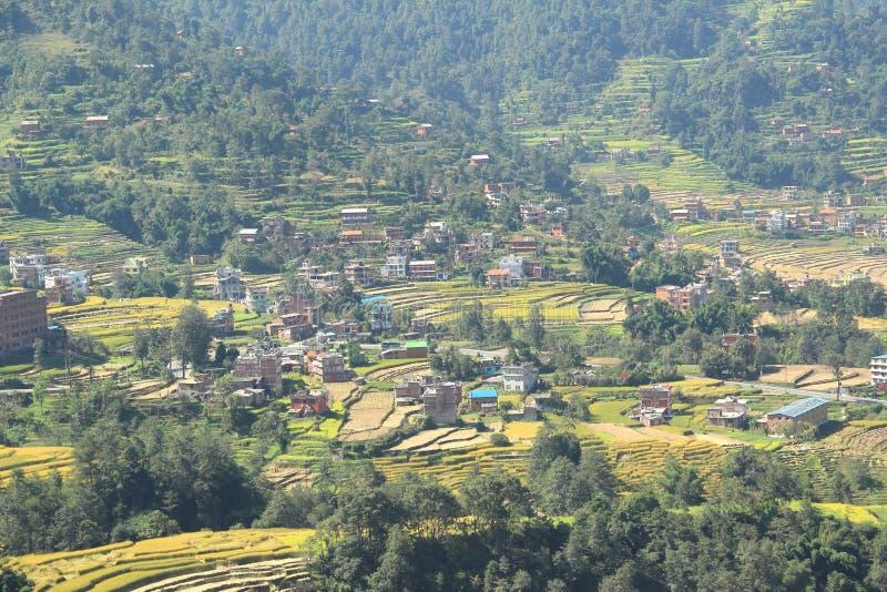 Villaggio nel Nepal. fotografia stock libera da diritti