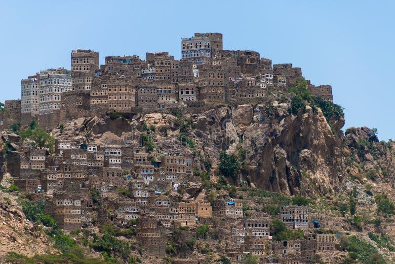 Villaggio nell'Yemen immagini stock