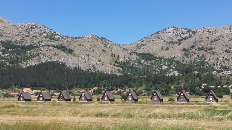 Villaggio in Njegusi, Montenegro immagini stock libere da diritti