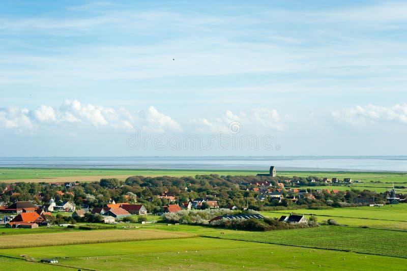 Villaggio olandese tipico Hollum fotografie stock libere da diritti