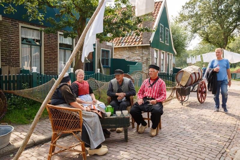Villaggio olandese tradizionale fotografie stock libere da diritti