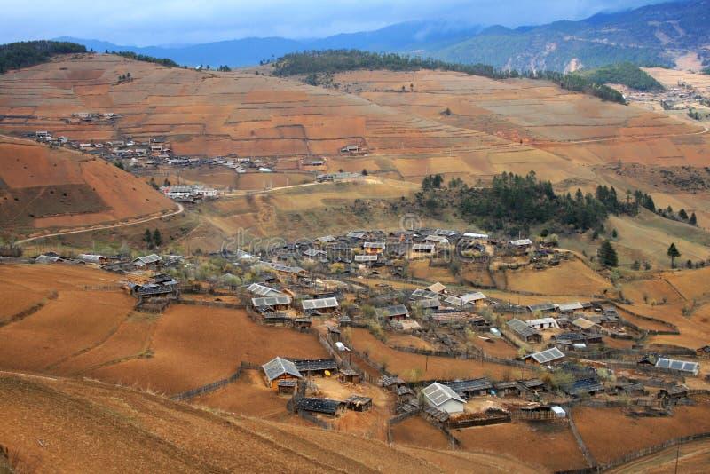 Villaggio pacifico di altiplano fotografia stock