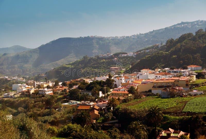 Villaggio singolare su Gran Canaria immagini stock libere da diritti