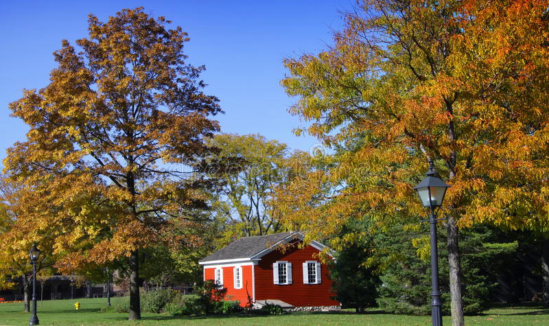 Villaggio storico del greenfield fotografie stock