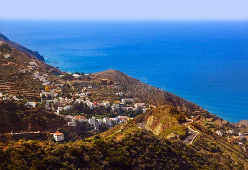 Villaggio Taganana nell'isola di Tenerife - canarino fotografia stock