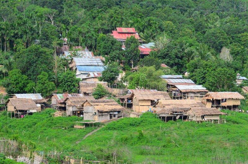 Villaggio tailandese di vecchio stile immagini stock