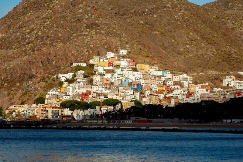 Villaggio tipico in isole Canarie fotografia stock libera da diritti