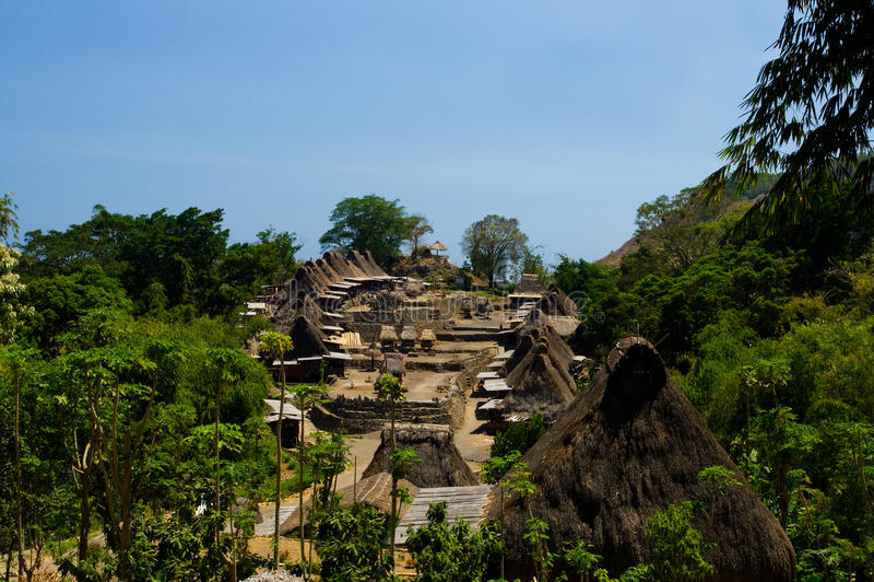 Villaggio tradizionale Bena di Ngada immagini stock libere da diritti