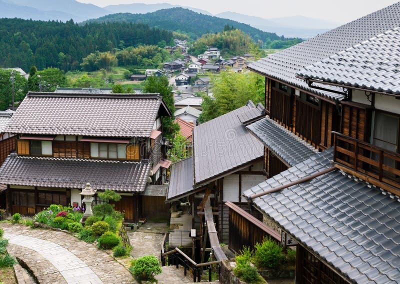 Villaggio tradizionale di Magome/Giappone fotografia stock