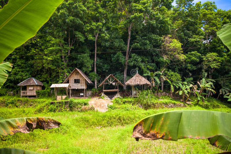 Villaggio tradizionale filippino fotografia stock