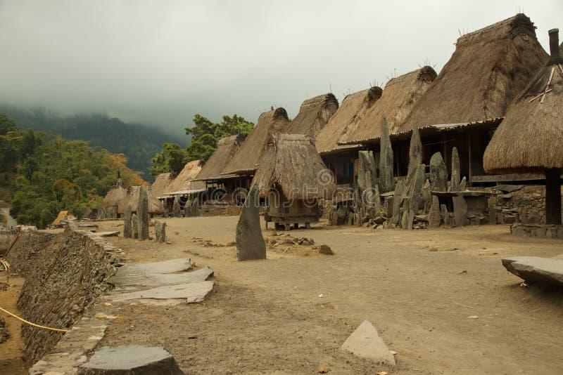 Villaggio tradizionale, Indonesia immagine stock libera da diritti