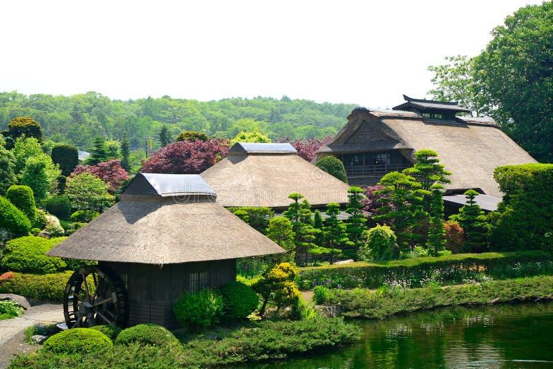 Villaggio tradizionale, Oshino, Giappone immagini stock libere da diritti