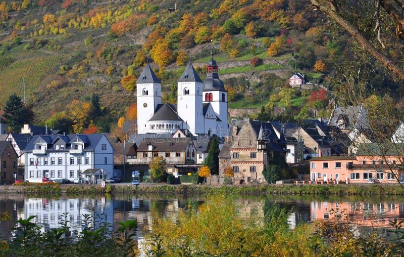 Villaggio Treis-Karden, Mosella, Germania immagini stock libere da diritti