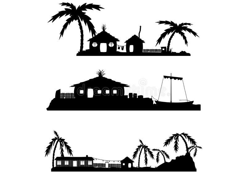 Villaggio tropicale di vettore royalty illustrazione gratis