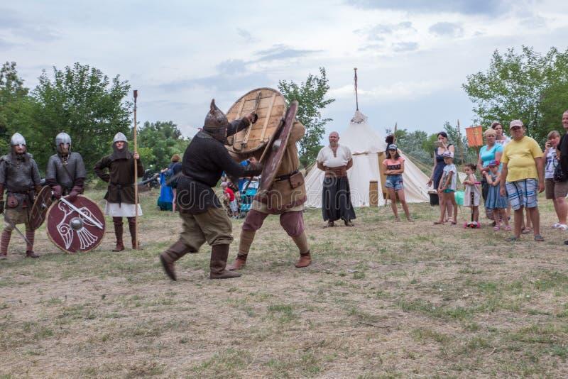 Villaggio Vesele, Nova Kakhovka, Ucraina, il 9 luglio 2018, immagini stock libere da diritti