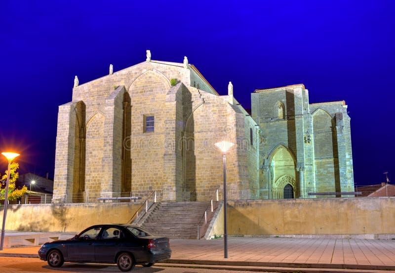 Villalcazar De Sirga kościół sposób święty James fotografia stock