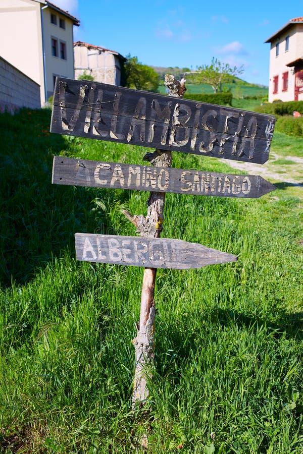 Villambistia用圣詹姆斯方式卡斯蒂利亚 库存照片