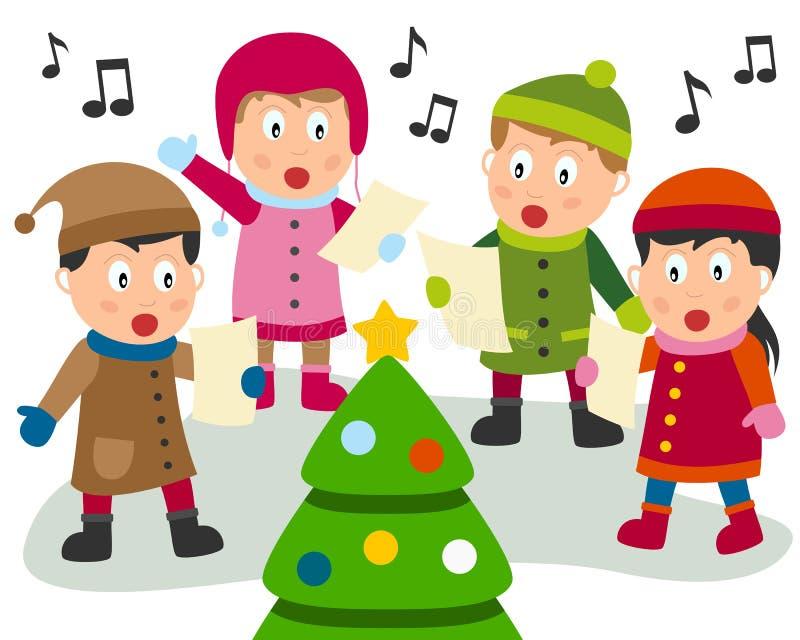 Villancico de la Navidad ilustración del vector