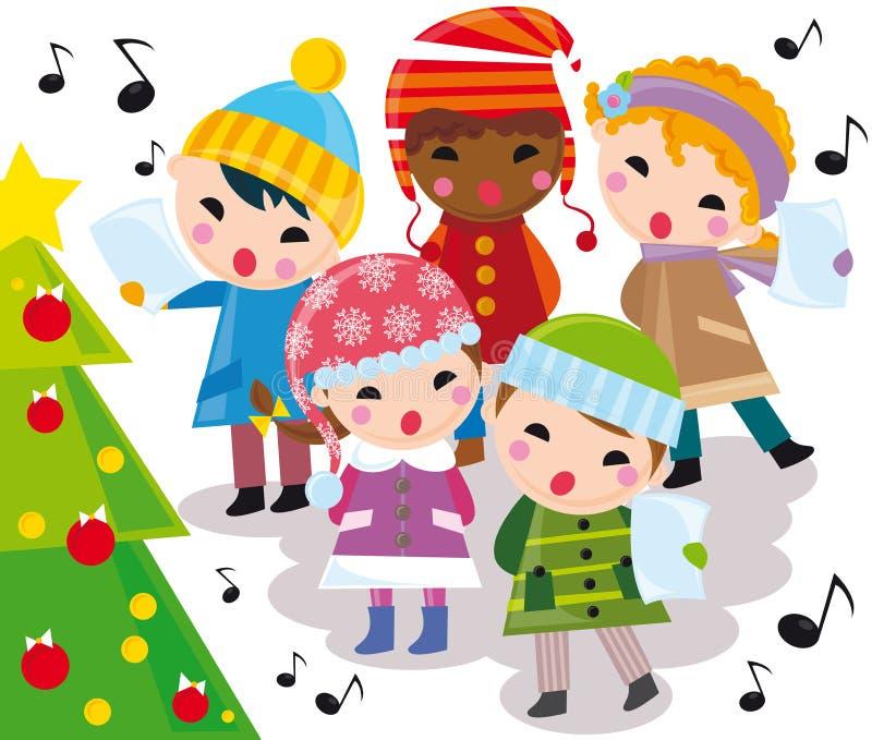 Villancicos de la Navidad ilustración del vector