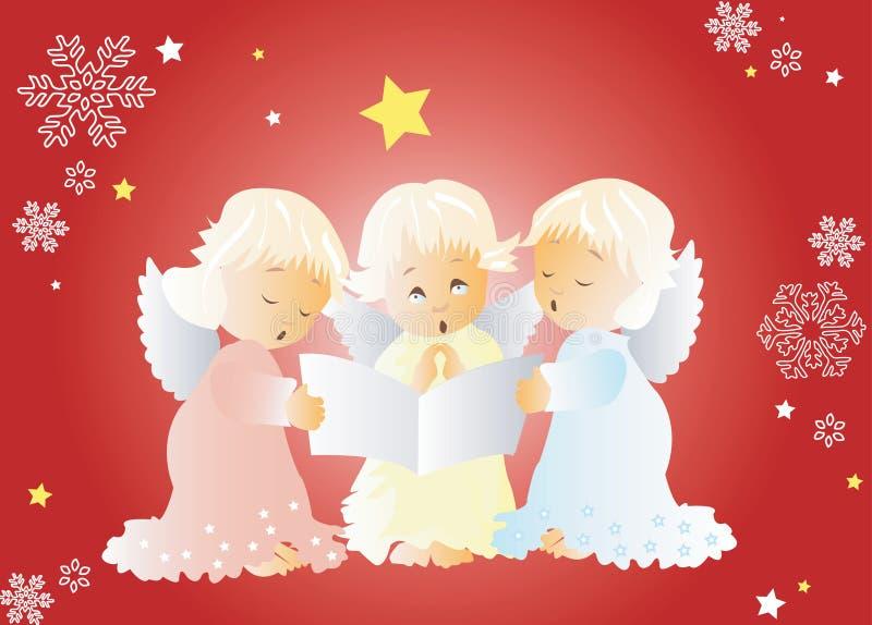 Villancicos de la Navidad del canto libre illustration