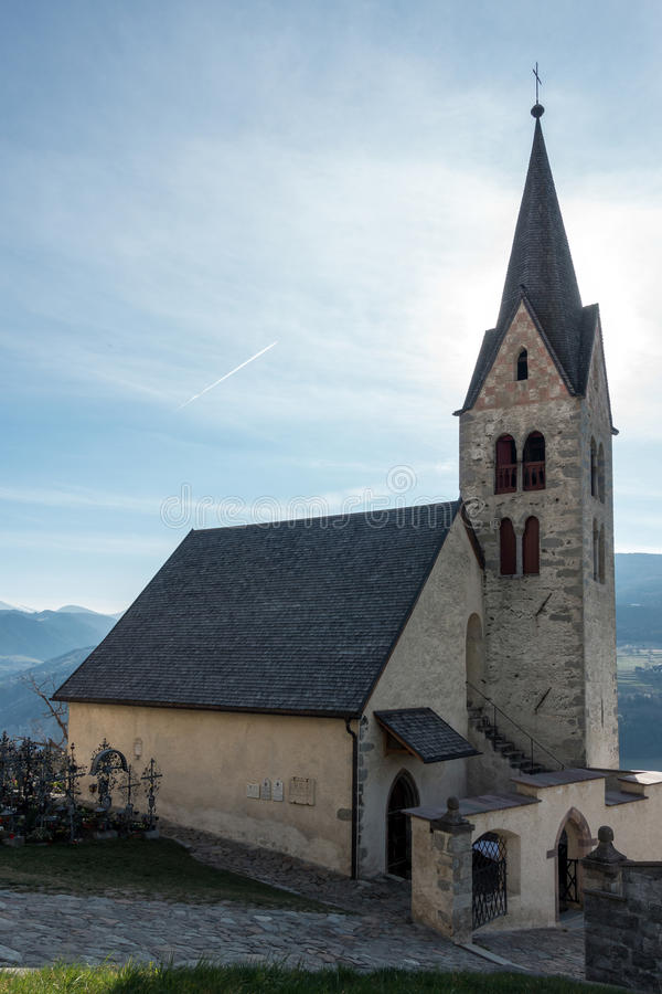 VILLANDERS, SOUTH TYROL/ITALY - MARCH 27 : Church dedicated to S royalty free stock photo