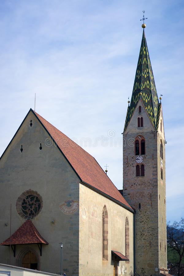 VILLANDERS, SOUTH TYROL/ITALY - MARCH 27 : The Parish Church in stock images