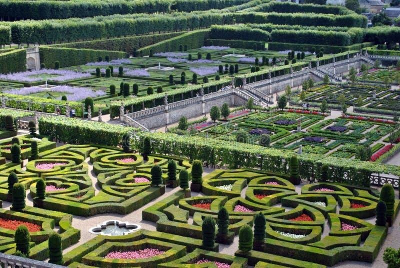 villandry城堡的庭院 库存图片