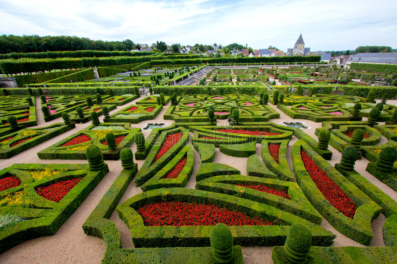Villandry castle and garden stock photo