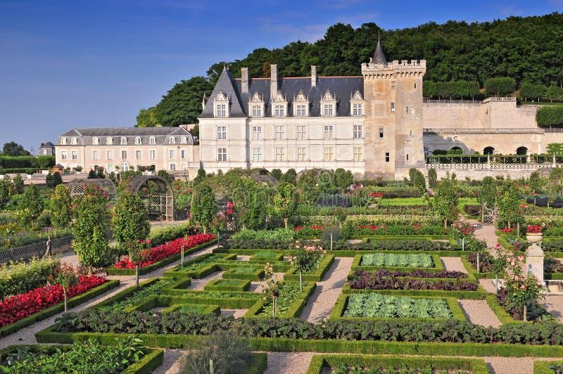 Villandry Castle with garden Indre et Loire Centre France stock image