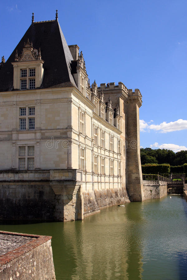 Download Villandry Castle and Moat stock image. Image of water - 27596833