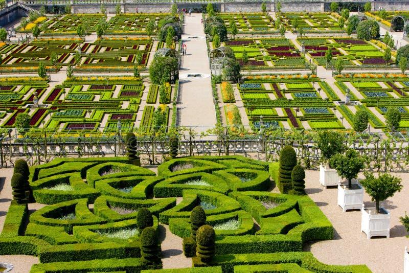 Villandry Castle's garden royalty free stock images