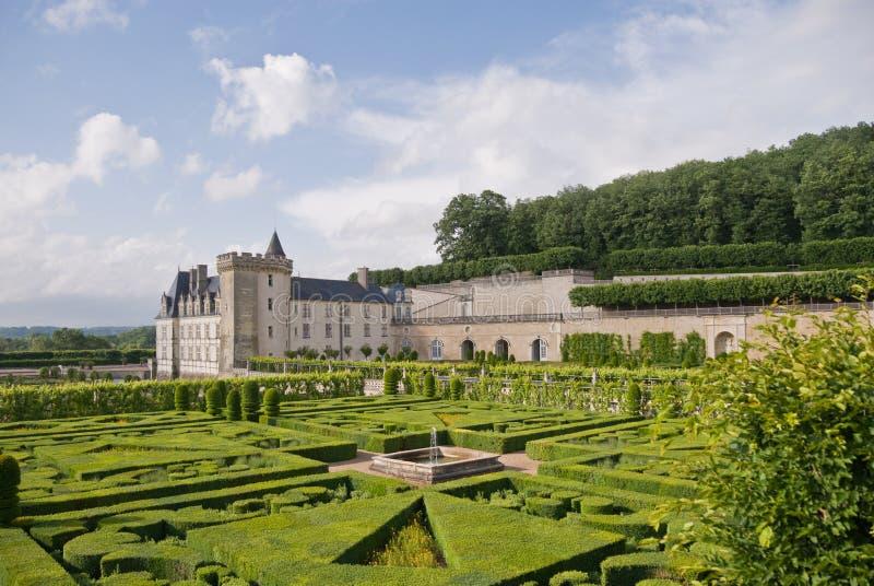 villandry chateau arkivfoto