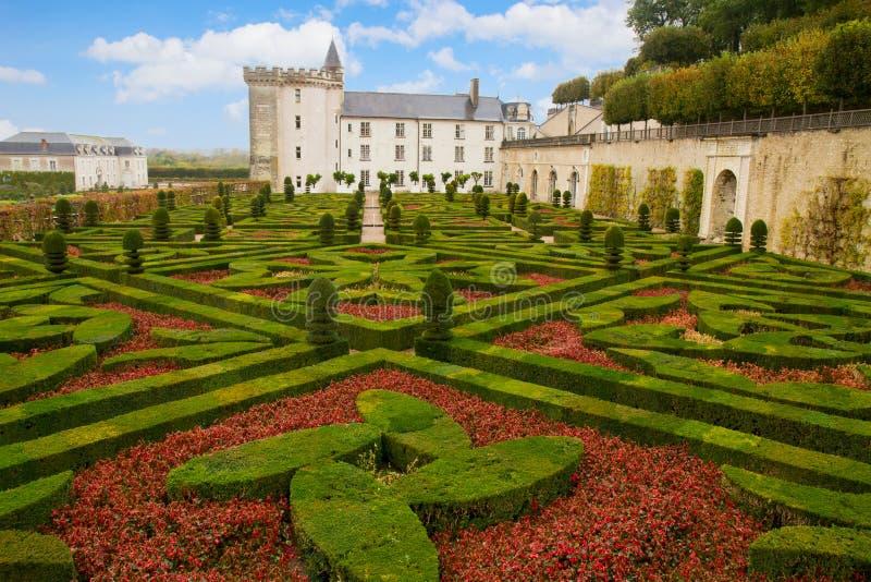 Villandry chateau, Frankrike arkivbilder