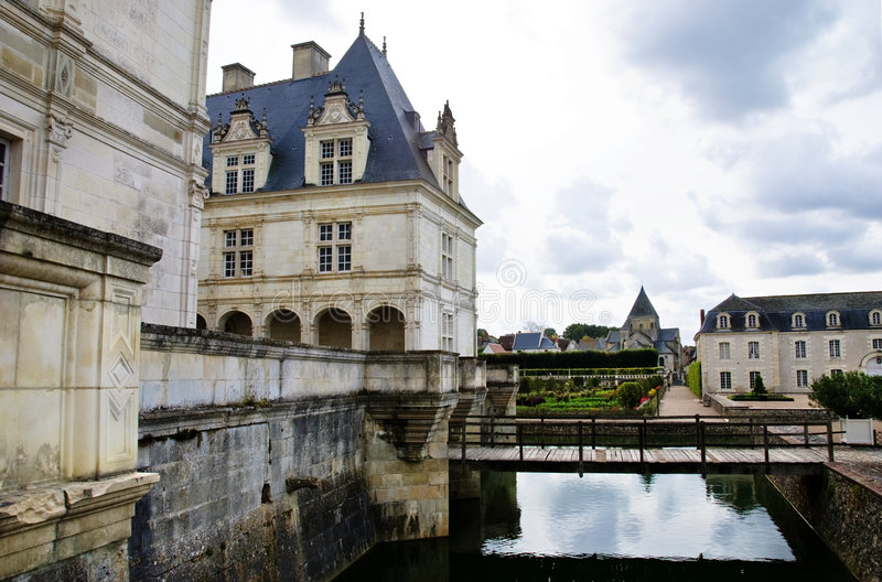 Villandry Chateau - Loire Valley - France stock photography