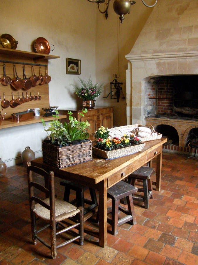 Kitchen With Terra Cotta Floor Tile Stock Image Image Of