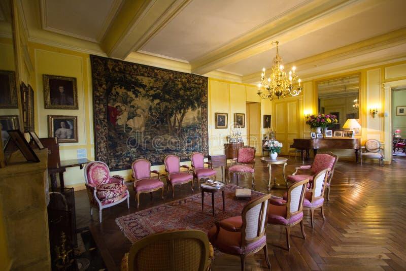 Villandry-Schlossansicht stockbilder