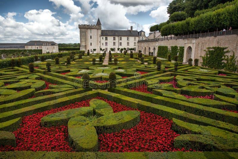 Villandry slott arkivbilder