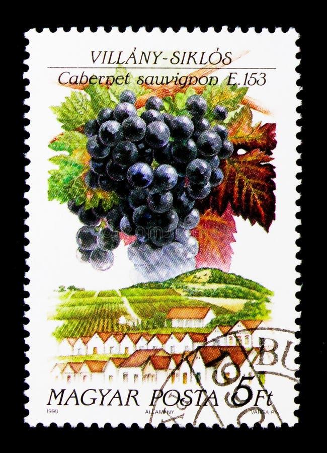 Villany Siklos, serie hongrois de régions de vin, vers 1990 photo stock