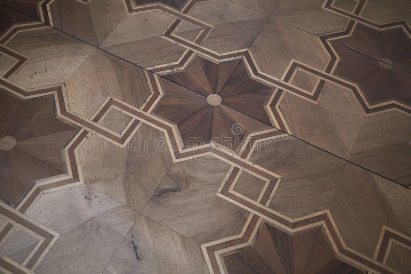 VillaPanza wood golv fotografering för bildbyråer