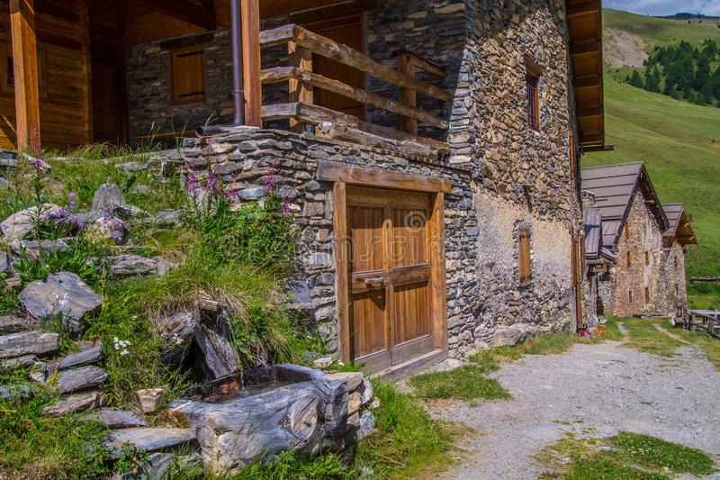 Villard ceillac in qeyras in hautes alpes in france royalty free stock images