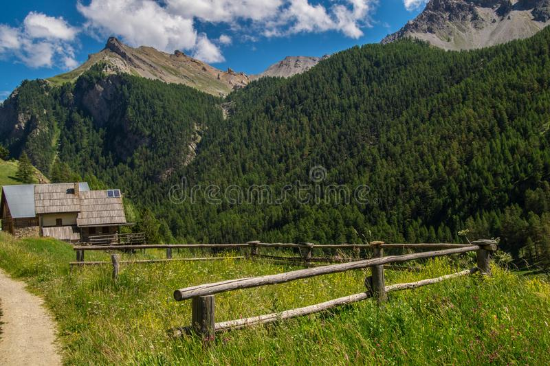 Villard ceillac in qeyras in Hautes-Alpes in Frankrijk royalty-vrije stock foto's