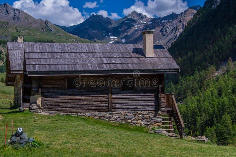 Villard ceillac in qeyras in Hautes-Alpes in Frankrijk royalty-vrije stock fotografie