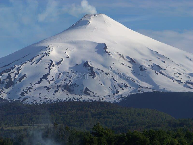 Villarica火山 免版税库存照片