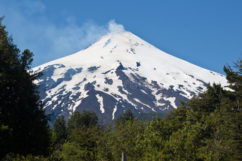 Villarica Volcano in Chile royalty free stock photo