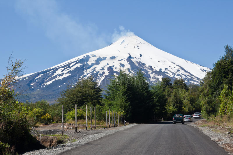 Villarica Volcano in Chile stock photo