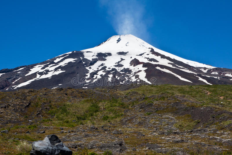 Villarica Volcano in Chile royalty free stock images