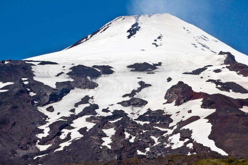 Villarica Volcano in Chile stock image