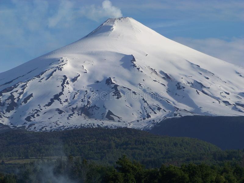 Villarica-Vulkan lizenzfreies stockfoto
