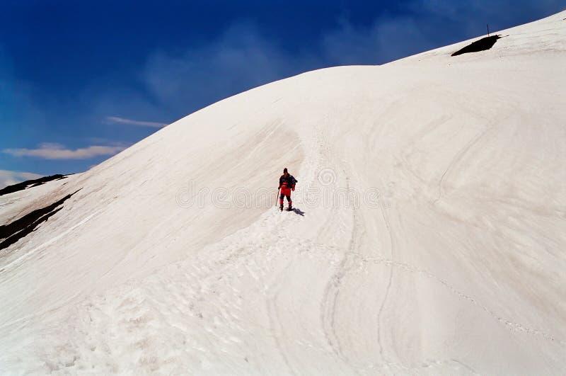 Villarica Vulkan-Aufstieg, Chile lizenzfreie stockfotografie